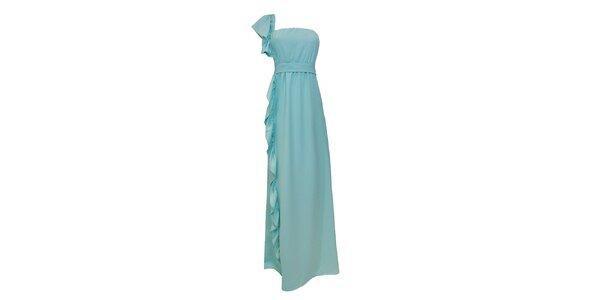 Dámské lehce tyrkysové společenské šaty Virginia Hill