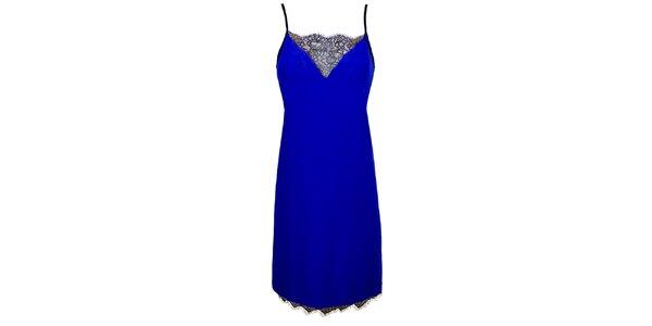 Dámská královsky modrá košilka s krajkou Virginia Hill