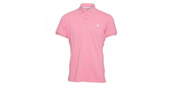 Růžové pánské polo tričko Lois Filipo