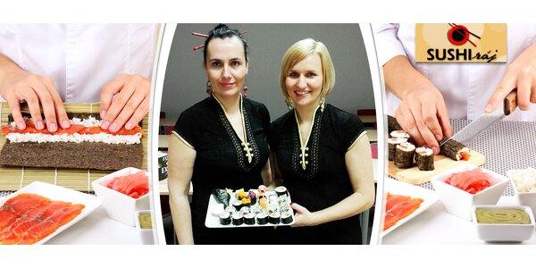 Zážitkový kurz přípravy sushi pro 1 osobu