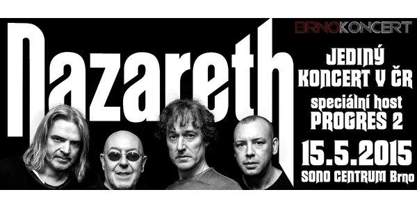 Vstup na jediný koncert skupiny Nazareth v ČR