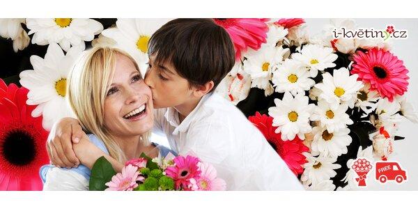 Vázaná kytice s dopravou po Ostravě zdarma
