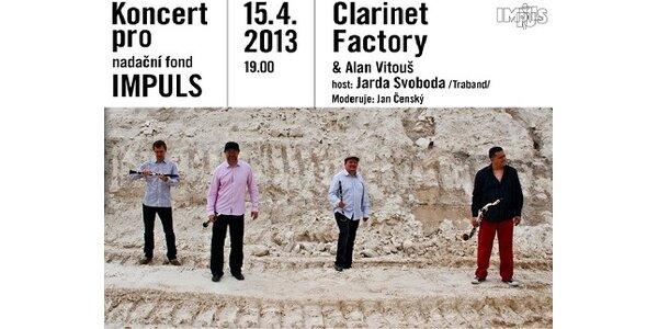 Koncert Clarinet factory & Alan Vitouš pro nadační fond IMPULS