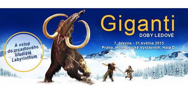 Vstupné na Giganty doby ledové a do bludiště