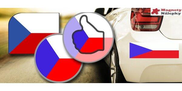 2 ks magnetické vlajky ČR na auto