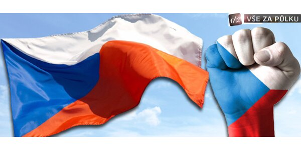 Vlajka ČR 150x90 cm