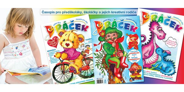 Půlroční předplatné dětského časopisu Dráček