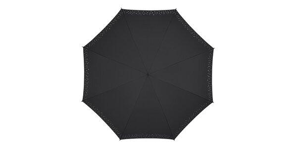 Dámský černý deštník Pierre Cardin s holografickým potiskem