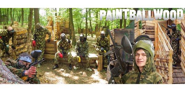 TŘI hodiny paintballu u lesního lomu