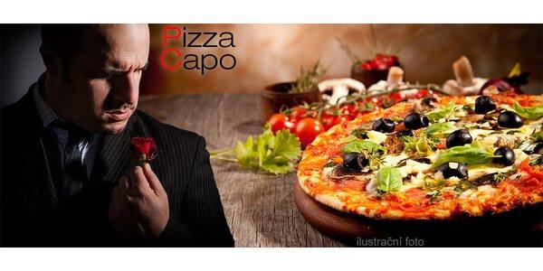 Obří pizza o Ø 45 cm i s rozvozem
