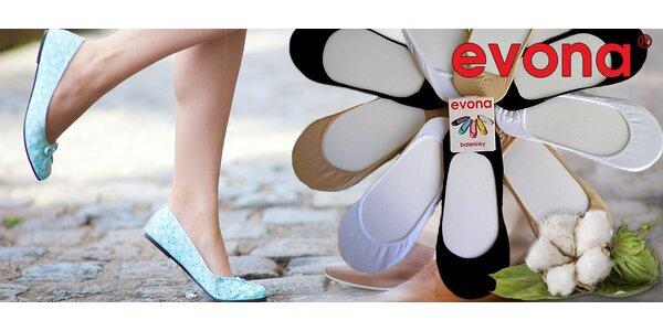 9 párů ponožek do balerínek od českého výrobce