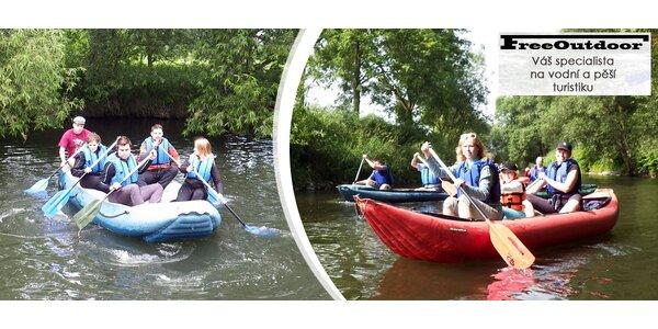 Sjezd řeky Moravy na kánoích, raftech či člunech