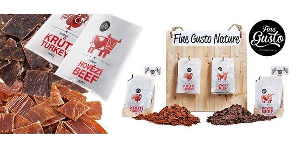 Hovězí či krůtí sušené maso Fine Gusto 100 g