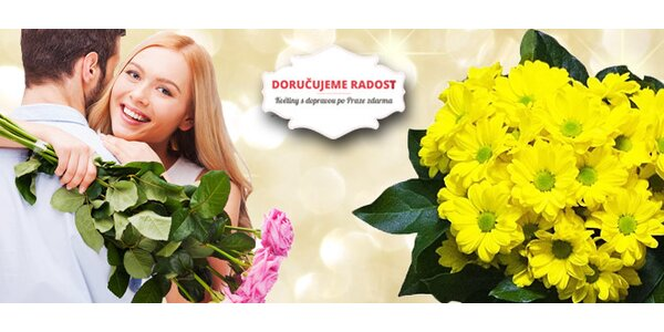 Květiny s rozvozem po Praze zdarma