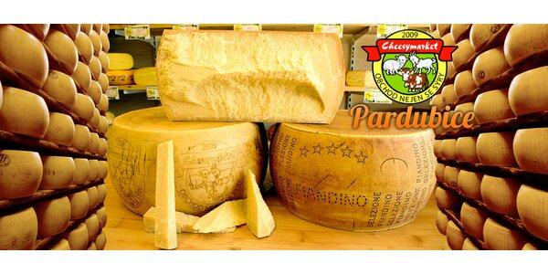 500gramový vyzrálý parmezán Parmigiano Reggiano