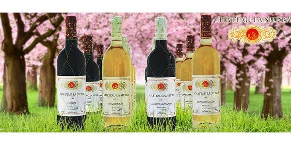 12 lahví španělského vína Chateau