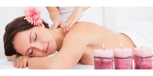 Klasická masáž zad a šíje včetně masáže chodidel a hlavy - 60 minut