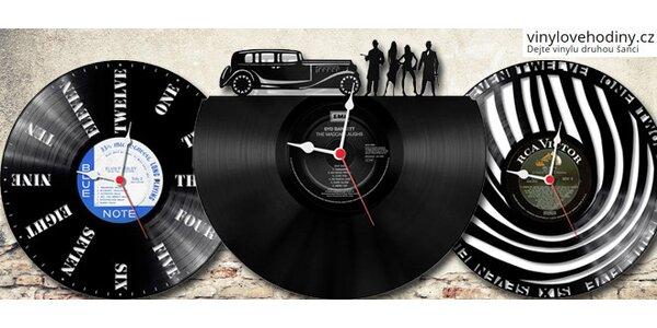 Vinylové designové hodiny