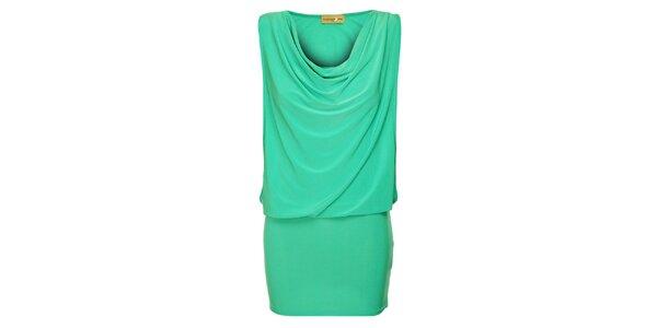 Dámské tyrkysové šaty Comptoir des Parisiennes