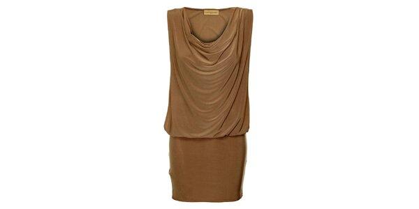 Dámské hnědé šaty Comptoir des Parisiennes