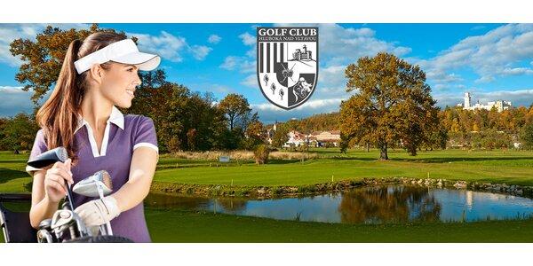 Kurz golfu Basic v luxusním Golf&Spa Resortu Hluboká