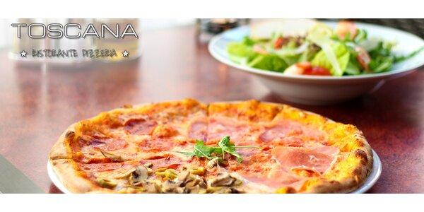 2 pizzy nebo velké saláty dle výběru