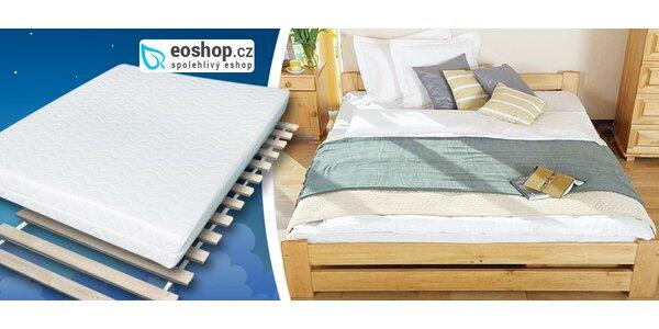 Masivní postele z přírodní borovice