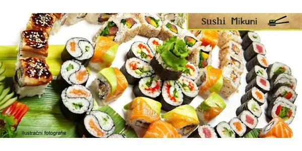 Sushi menu v japonské restauraci Mikuni - 44 ks
