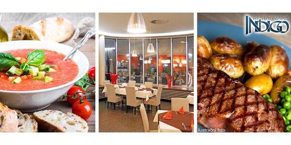 Letní 4chodové degustační menu v Indigo
