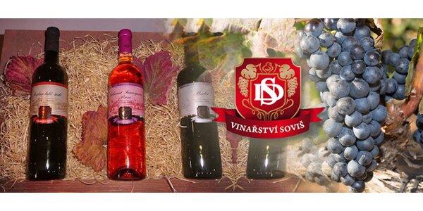 Set šesti vín z Vinařství Soviš