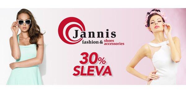 30% sleva na nezlevněné zboží Jannis Fashion