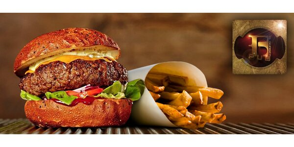 Hovězí burger se steakovými hranolkami v El Burger