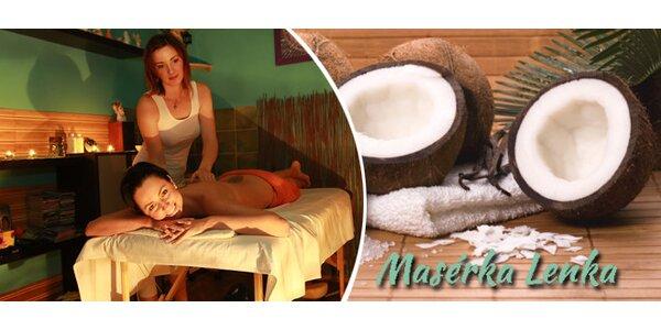 Exkluzivní kokosové masáže s peelingem