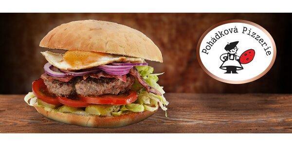 Pohádkový special burger s hranolky včetně rozvozu