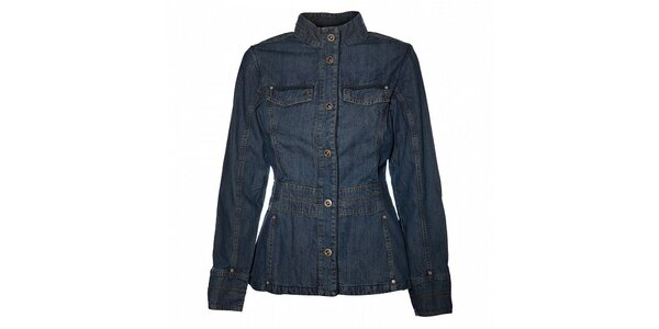 Dámské modrý džínový kabátek Bushman