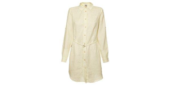 Dámské krémové košilové šaty Bushman