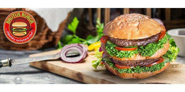 Vepřový Double burger v Občerstvení Brutus