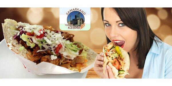 Dva turecké kebaby v centru Plzně