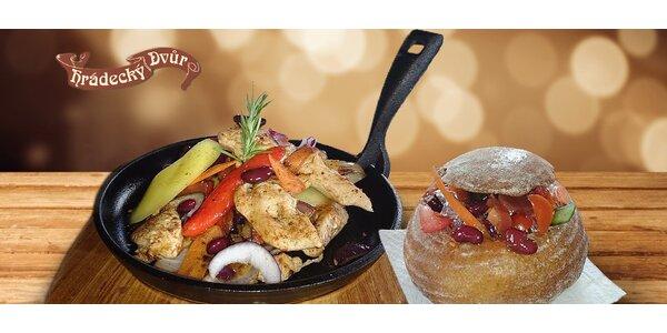 Mexické menu pro 2: Kuřecí fajitas a polévky