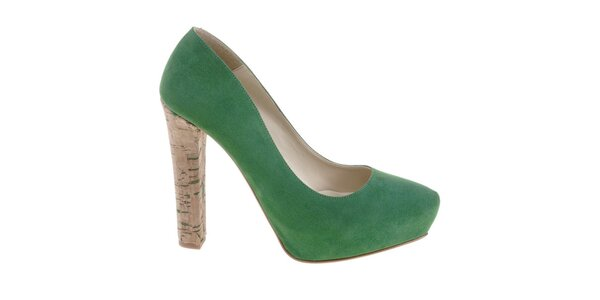 Dámské smaragdově zelené lodičky Eva Lopez