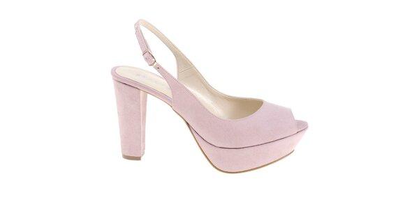 Dámské světle růžové sandálky Eva Lopez
