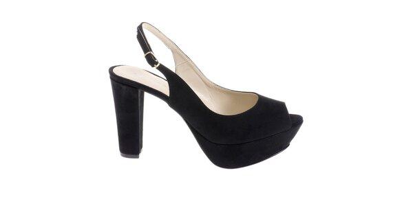 Dámské černé sandálky Eva Lopez