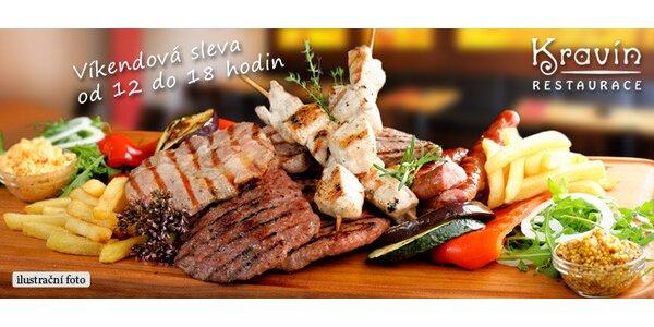 Mix grill pro 2 až 4 osoby v restauraci Kravín