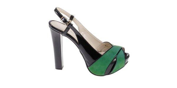 Dámské černo-zelené sandálky Eva Lopez