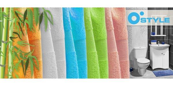 Kolekce bambusových ručníků a osušek