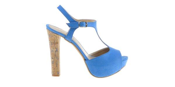 Dámské nebesky modré sandálky Eva Lopez