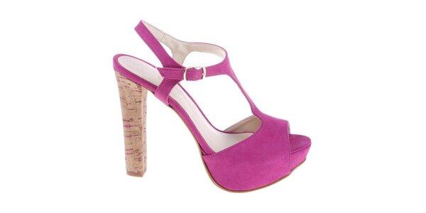 Dámské fuchsiové sandálky Eva Lopez