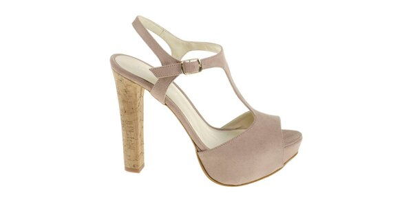 Dámské béžové sandálky Eva Lopez