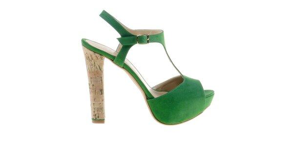 Dámské smaragdově zelené sandálky Eva Lopez