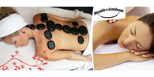 Masáž teplými lávovými kameny + klasická masáž
